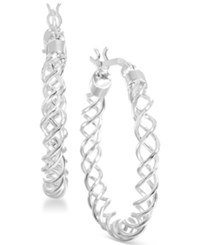 Giani Bernini Sterling Silver Spiral Hoop Earrings Only At Macy's
