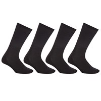 John Lewis Sport Cushion Sole Socks Pack Of 4 Black
