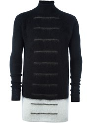 Rick Owens Striped Jumper Black