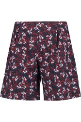 Mother Of Pearl Weston Printed Cotton Blend Shorts Blue