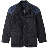 Nigel Cabourn X Lavenham Quilted Mallory Jacket Blue