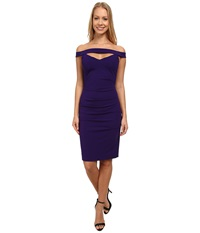 Nicole Miller Triangle Cutout Party Dress Majestic Purple Women's Dress Red