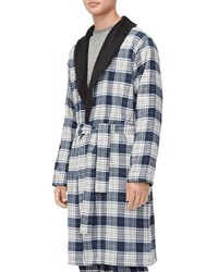 Ugg Kalib Sherpa Lined Plaid Robe Gray