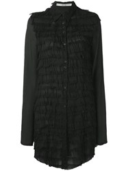 Damir Doma Ruffled Layered Blouse Women Viscose M Black