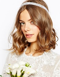 Asos Bridal Flower And Faux Pearl Headband Cream