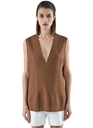 Marni Oversized Darted Tank Top Brown