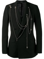 Alexander Mcqueen Chain Embellished Jacket Black