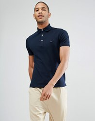 Tommy Hilfiger Slim Fit Polo In Navy Sky Captain