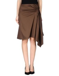 Ice Iceberg Knee Length Skirts Cocoa