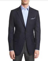 Tom Ford O'connor Base Mini Check Sport Jacket Navy