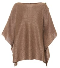 Brunello Cucinelli Linen And Silk Top Brown