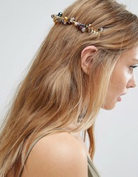 Asos Occasion Pretty Beaded Back Headband Multi