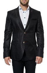 Maceoo Men's Descartes Black Tree Sport Coat