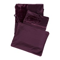 A By Amara Beaufront Silk And Velvet Travel Set Merlot
