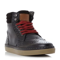 Original Penguin Huntsman Cupsole Brogue Boots Black
