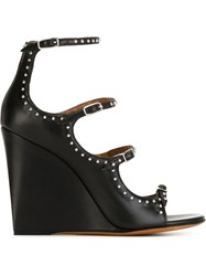 Givenchy Studded Wedge Sandals Black
