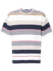 Guild Prime Striped Knitted Top White