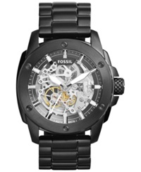 Fossil Men's Automatic Modern Machine Black Ion Plated Stainless Steel Bracelet Watch 50Mm Me3080