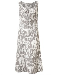 East Linen Etched Floral Dress Limestone