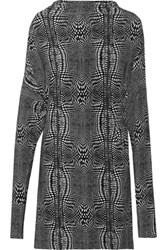Norma Kamali All In One Convertible Printed Stretch Jersey Dress Anthracite