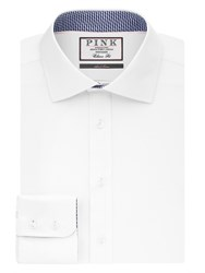 Thomas Pink Men's Strummer Plain Classic Fit Button Cuff White