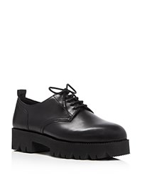 Ash Nox Lace Up Platform Oxfords Black
