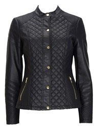 Wallis Black Quilted Faux Leather Jacket