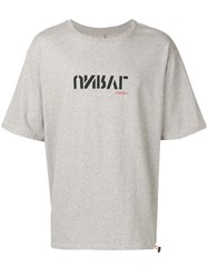 Unravel Project Oversized Logo T Shirt Grey