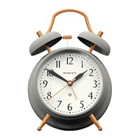 Newgate Brick Lane Alarm Clock Grey Copper