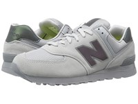 New Balance Ml574 Silver Mint Men's Shoes Gray