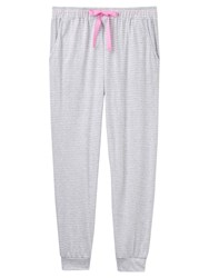 Joules Siesta Jersey Stripe Pyjama Bottoms Grey