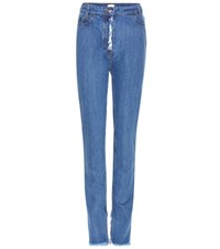 Magda Butrym Lowville High Rise Jeans Blue