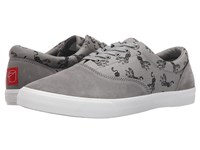Bucketfeet Tiger Grey Men's Lace Up Casual Shoes Gray