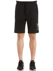 Y 3 Slim Graphic French Terry Sweat Shorts Black