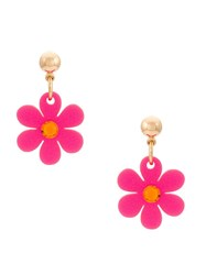 Serpui Flower Earrings Pink And Purple