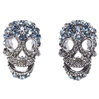 Shay Accessories Mini Skull Post Earrings Silver