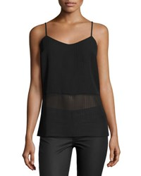 Laundry By Shelli Segal Stripe Pleated Camisole Black