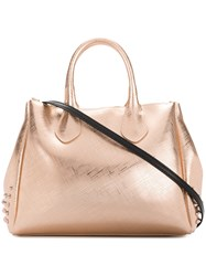 Gum Stud Detail Tote Bag Metallic