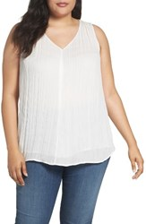 Sejour Plus Size Women's Crinkled Shell