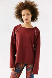 Without Walls Sherpa Lined Sweatshirt Maroon