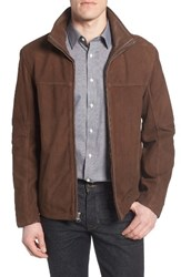 Marc New York Men's By Andrew Calyer Leather Jacket Mahogany