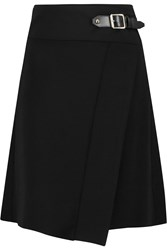 Just Cavalli Wrap Effect Crepe Mini Skirt Black