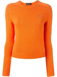 Polo Ralph Lauren Crew Neck Sweater Yellow And Orange