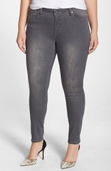 Plus Size Women's Poetic Justice 'Maya' Destroyed Stretch Skinny Jeans
