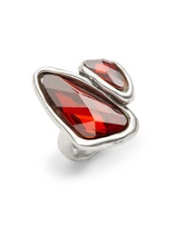 Uno De 50 Swarovski Crystal Two Stone Ring Red