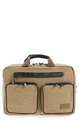 Hex Men's Radar Convertible Water Resistant Briefcase Beige Khaki