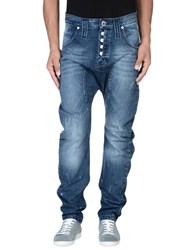 Humor Denim Denim Trousers Men Blue