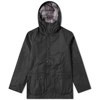Barbour Sl Bedale Hooded Wax Jacket White Label Black