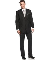 Perry Ellis Suit Comfort Stretch Black Solid