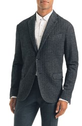 Good Man Brand Uptown Trim Fit Herringbone Cotton Blend Sport Coat Black